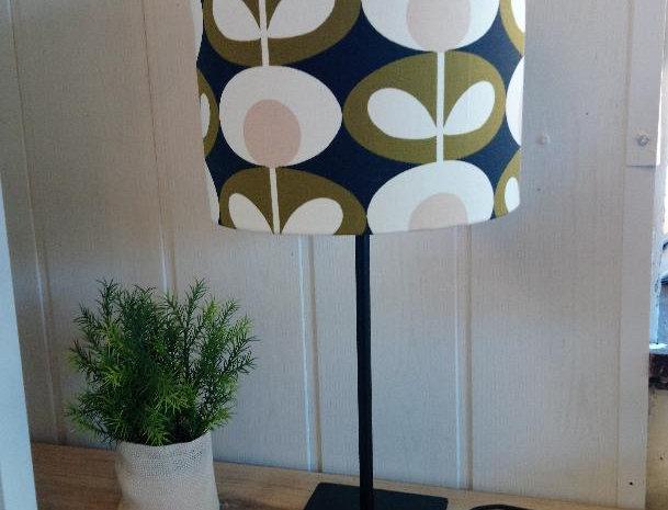 Lampe grandes fleurs vintage