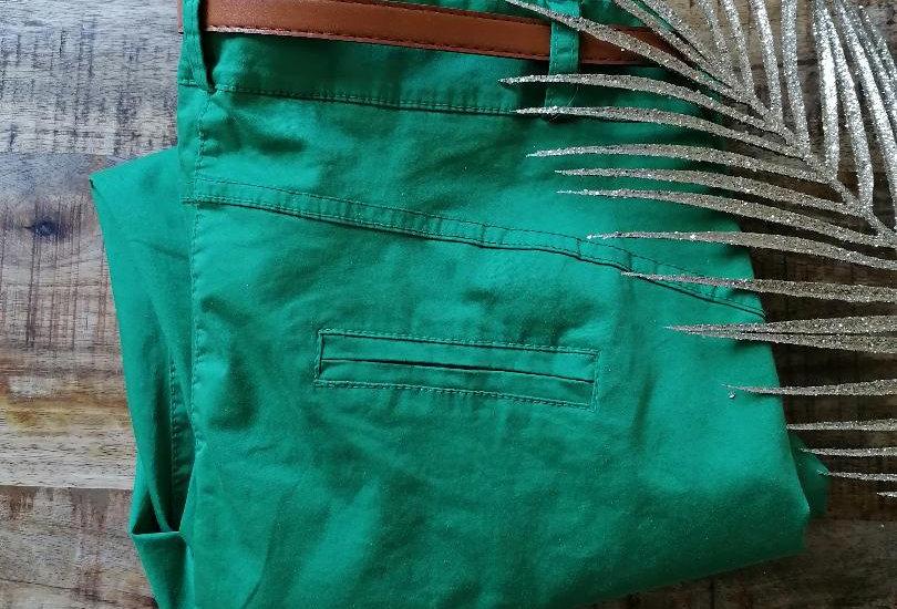 Pantalon chino vert printemps