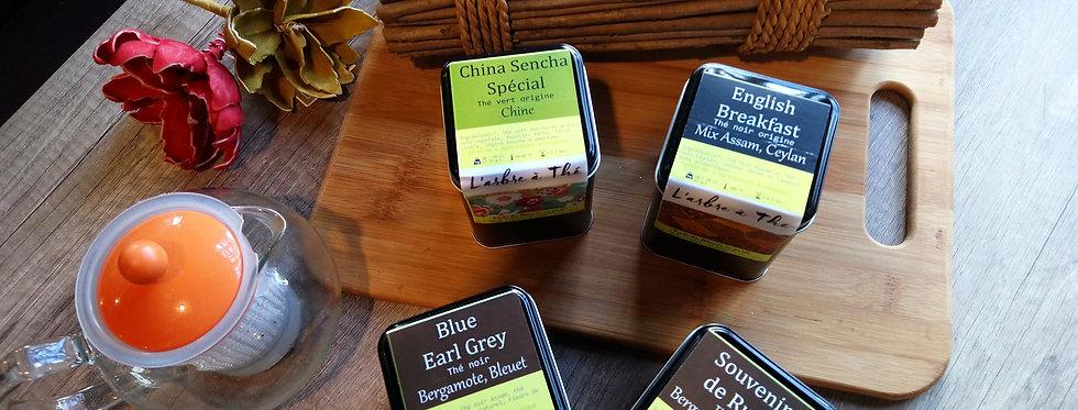 Liste de thés noirs aromatisés - 100 g