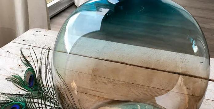 Vase bleu/marron GM