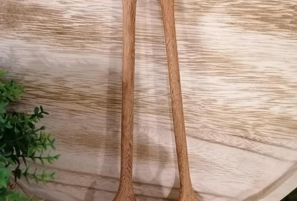 Cuillère double tête en bois