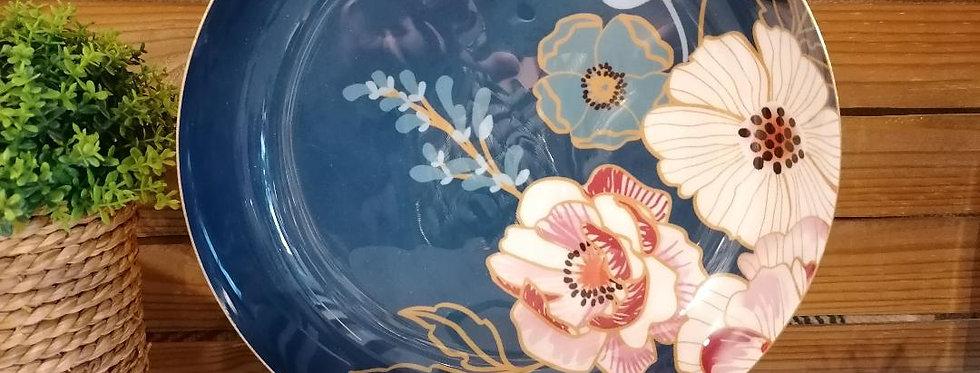 Coupe fleurie bleue
