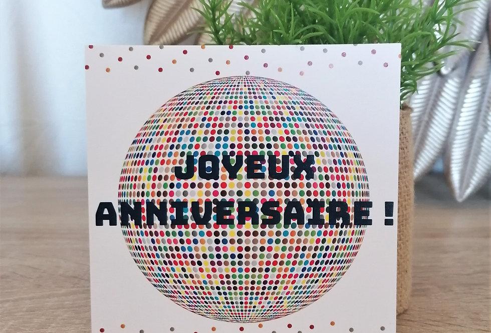 """Carte """"Joyeux anniversaire"""" 11x11 cm"""