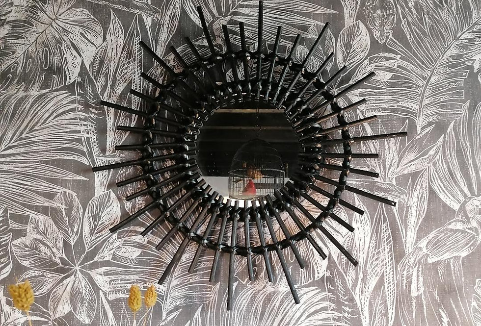 Miroir soleil noir PM