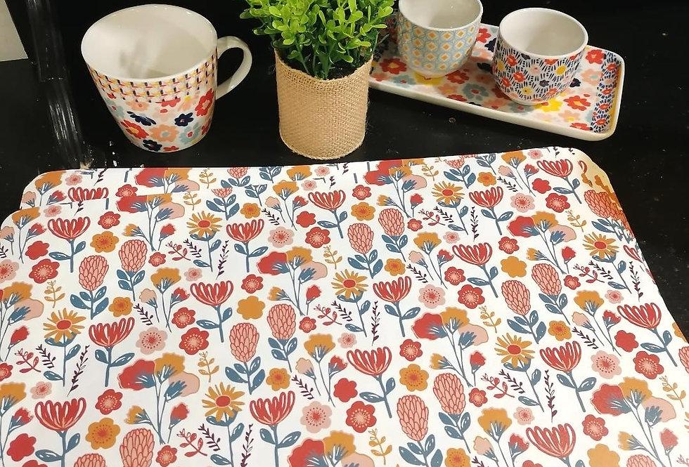 Set de table fleuri