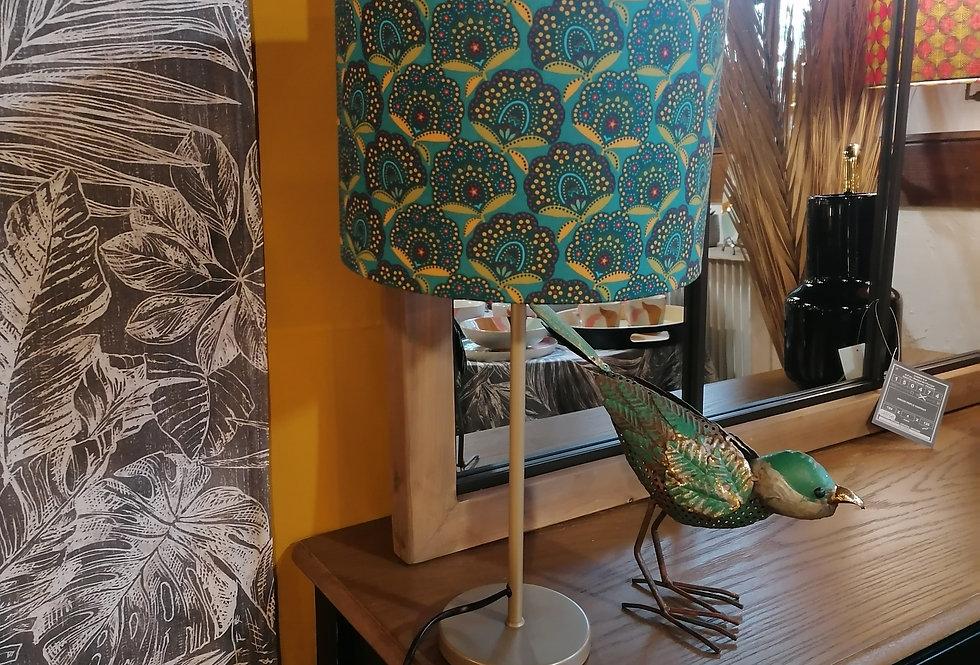 Lampe feuilles ginkgo/paon