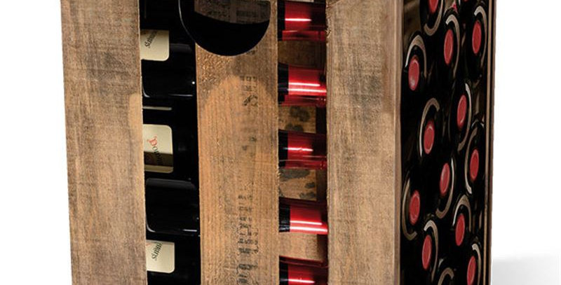 """Tabouret """"Bouteilles de vin"""""""