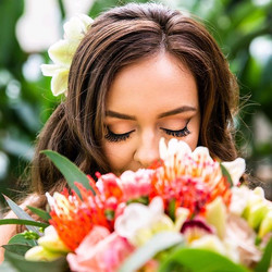 Stop and smell your bouquet on your wedd
