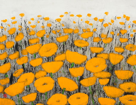 1. Suspicious flower, 2016, Ink, Acrylic
