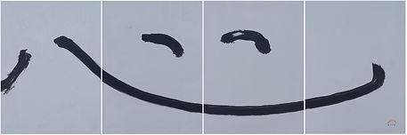 1. Smile13003, 2013, Acrylic on cancas,