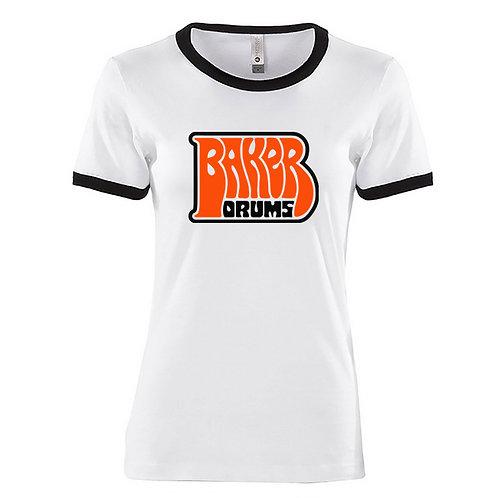 Women's Large Ringer T-Shirt