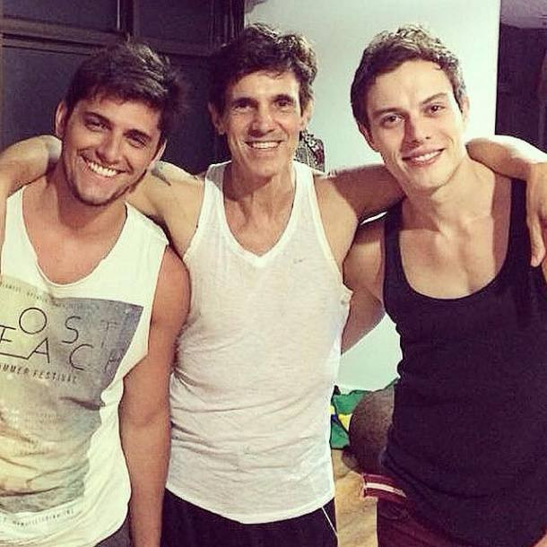 Foto: Bruno Gissoni, Ciro Barcelos e Franco Kuster – Foto via Instagram Franco Kuster.