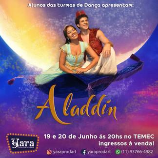 """Yara Produções Artísticas apresenta o espetáculo """"Aladdin"""" em Itu⠀"""