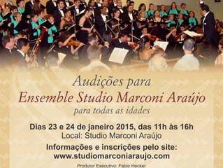 Audições Para Ensemble Studio Marconi Araújo