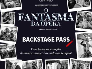 O Fantasma da Ópera terá visita exclusiva aos bastidores