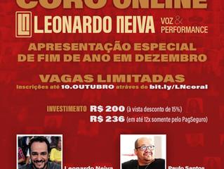 Inscrições abertas para o Coro Online LN Voz & Performance
