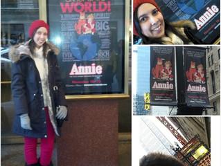"""Annie"" em Chicago #PollyNosStates"