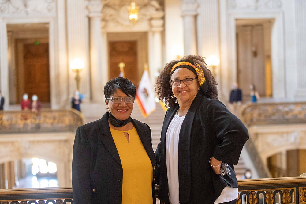 Newly Appointed LGBTQI+ Advisory Committee Members Lisa L. Williams, Soul of Pride Director and HCN Board Vice President, and Dr. April Y. Silas, HCN Executive Director