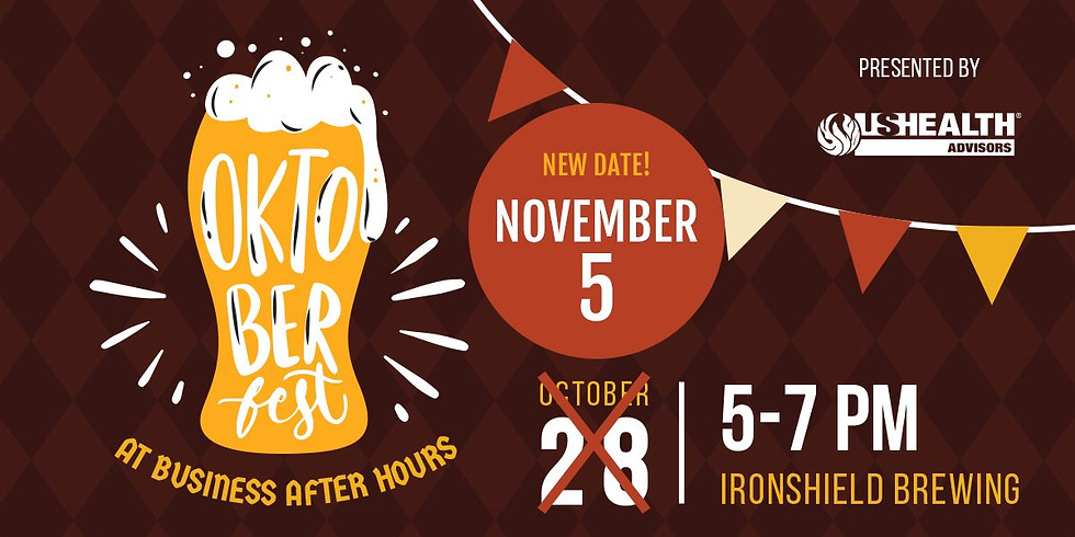 OktoberFest at Business After Hours hosted by Ironshield Brewing