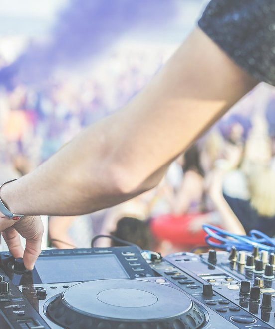 DJing an event in Miami, FL