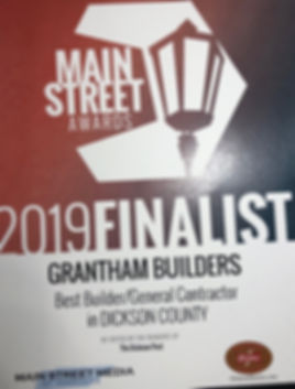 Grantham Builders - Main Street Media Aw