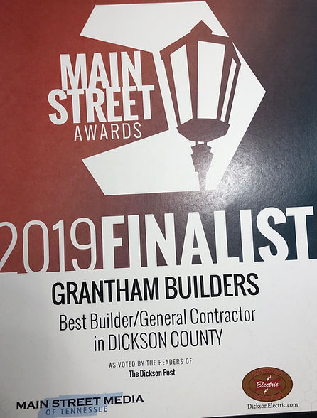 Grantham Builders - Main Street Media Aw