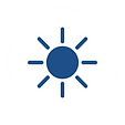 Youth Camp Blue Sun White Circle Icon-01