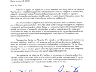 Support Letter From Maine Senators