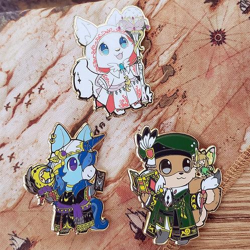 Warriors of Cute: Healer Class Enamel Pins