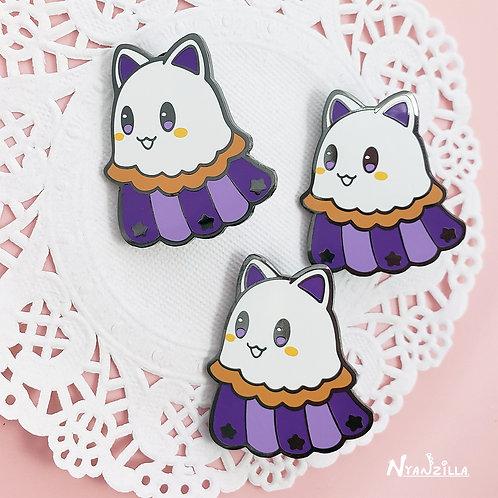 Kitty Ghost Enamel Pin