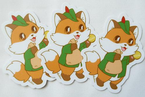 Vinyl Sticker: Robin Hood Fox