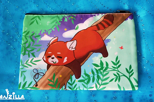 Lazy Red Panda Accessory Bag