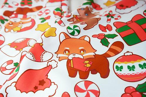 MADE TO ORDER: Red Panda Christmas Leggings