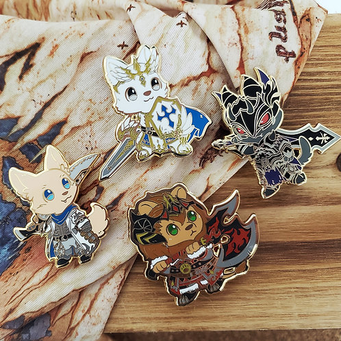 Warriors of Cute: Tank Class Enamel Pins