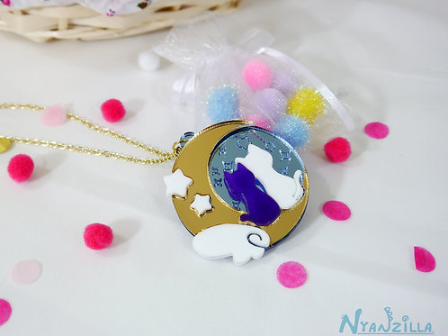 Acrylic Necklace: Luna and Artemis Sailor Moon