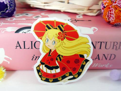 Vinyl Sticker: Alice in Queen's Kimono
