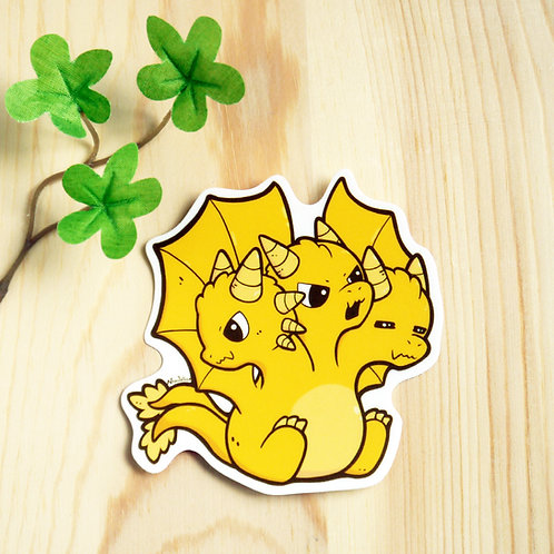 Vinyl Sticker: Golden Dragon Kaiju