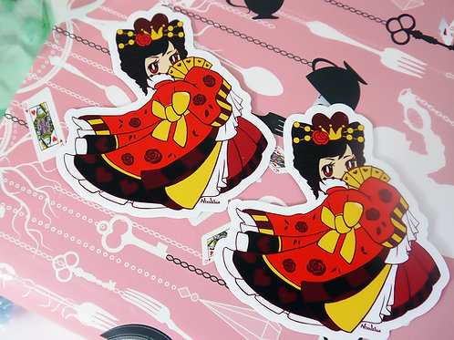 Vinyl Sticker: Queen of Hearts