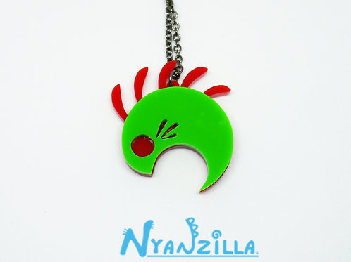 Green Monster Acrylic Necklace