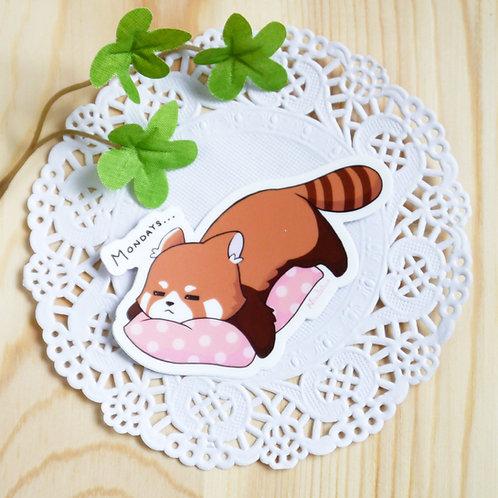 Vinyl Sticker: Lazy Monday Red Panda