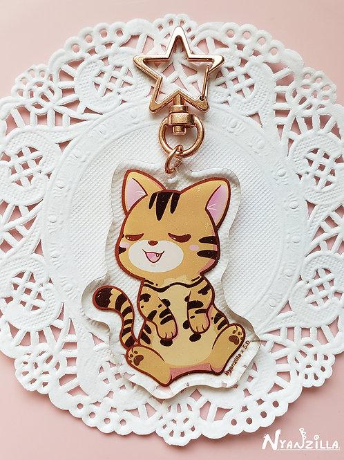 Acrylic Keychain: Cuddle Cat