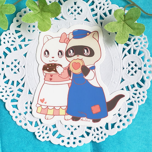 Vinyl Sticker: Hansel and Gretel Ferrets