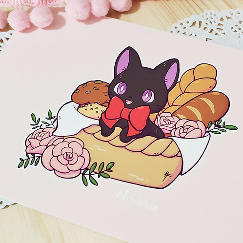 Print: JiJi in a Basket