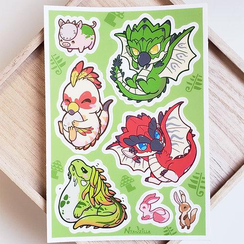 Vinyl Sticker: Monster Hunter Sheet