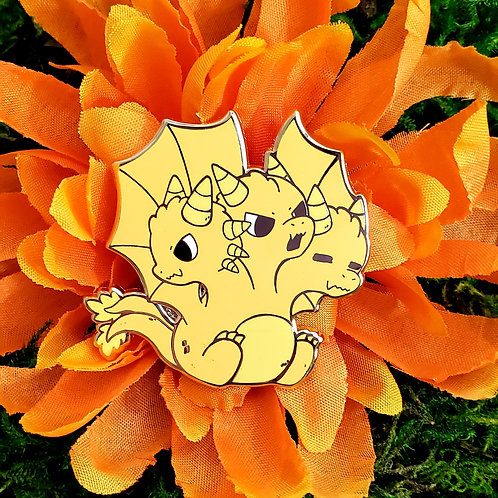 Kaiju Collection: Golden Dragon Enamel Pin