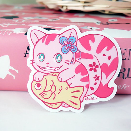 Vinyl Sticker: Cheshire Cat