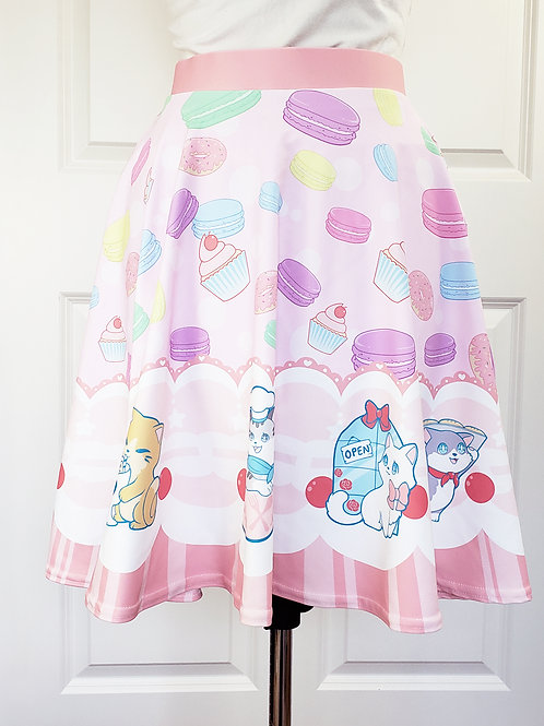 MADE TO ORDER: Cat Cafe Skirt