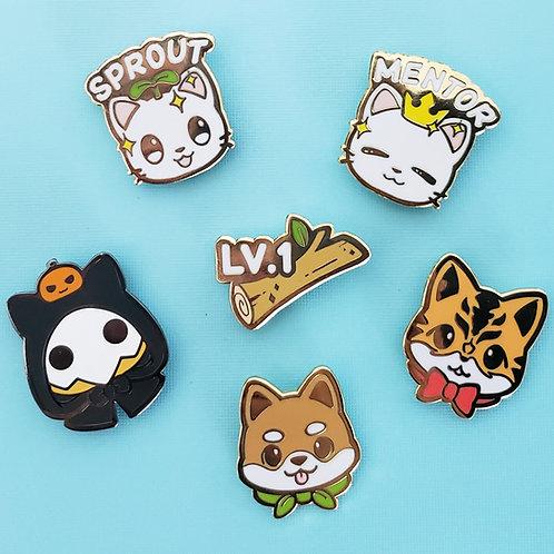 Warriors of Cute: Mini Enamel Pins