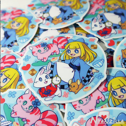Vinyl Sticker: Alice in Kyoto Wonderland