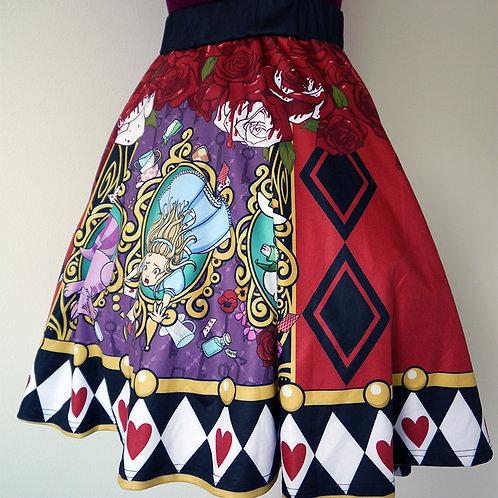 MADE TO ORDER: Alice in Wonderland Flare Skirt